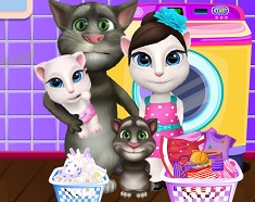 Familia Talking Tom Spala Haine