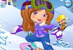Fata pe Snowboard