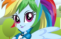 Fetele Equestria Rainbow Dash
