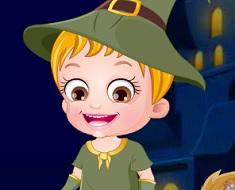 Fetita Hazel in Noaptea de Halloween