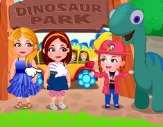Fetita Hazel in Parcul cu Dinozauri
