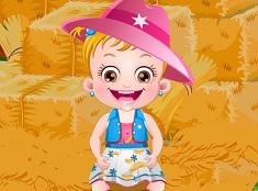Fetita Hazel la Festivalul Recoltei