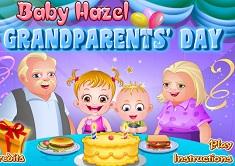 Fetita Hazel la Ziua Bunicilor
