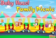 Fetita Hazel si Familia la Picnic