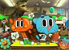 Gumball si Darwin Puzzle la Scoala