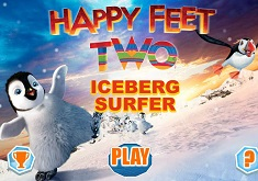 Happy Feet Surf pe Iceberg