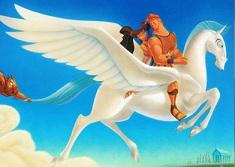 Hercule si Megara pe Pegasus