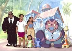 Lilo si Stitch cu Familia Puzzle