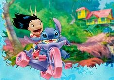 Lilo si Stitch pe Motocicleta