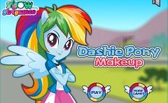 Machiaj pentru Rainbow Dash