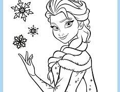 Mandala de Colorat cu Elsa