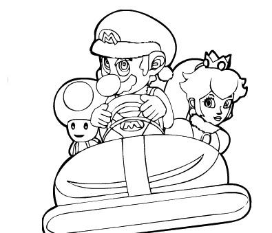 Mario Kart de Colorat