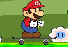 Mario pe Skateboard