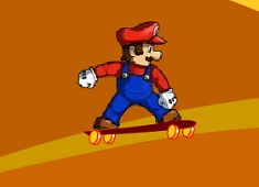 Mario pe  Skatebord