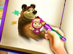 Masha si Ursul Carte de Colorat
