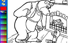Masha si Ursul langa Semineu de…