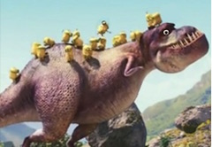 Minioni cu Dinozauri 6 Diferente