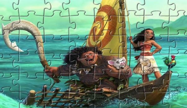 Moana si Prietenii Puzzle