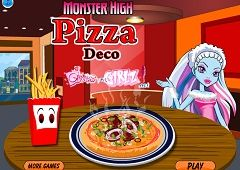 Monster High Decoreaza Pizza