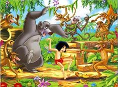 Mowgli si Prietenii Danseaza Puzzle