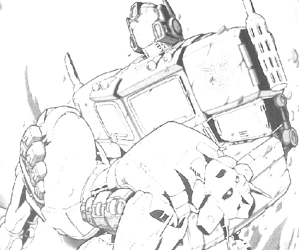 Optimus Prime de Colorat