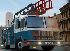 Parcari 3D cu Masina de Pompieri