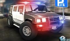 Parcati Masina Hummer de Politie