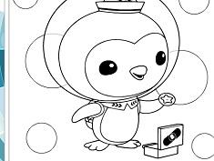 Peso Pinguinul de Colorat