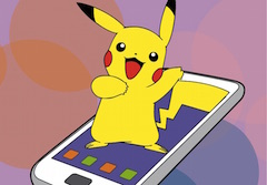 Pikachu pe Telefon