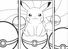 Pikachu Telefon si Bile