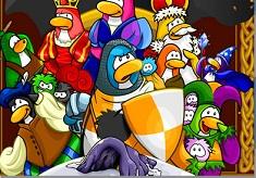Pinguinii Medievali Puzzle