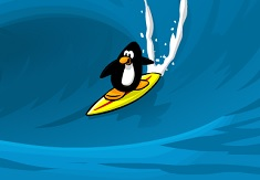 Pinguinul Surfer