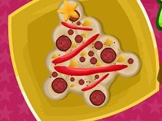 Pizza in Forma de Brad