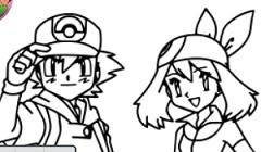 Pokemon de Colorat pentru Copii