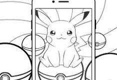 Pokemon Go Pikachu de Colorat