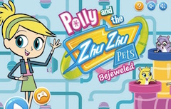 Polly si Animalele Zhu Zhu Bejeweled