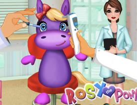 Poneiul Rosy la Doctorul de Ochi