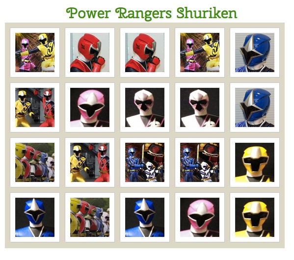 Power Rangers Shuriken de Memorie