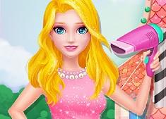Printesa Elsa la Salonul de Frumusete