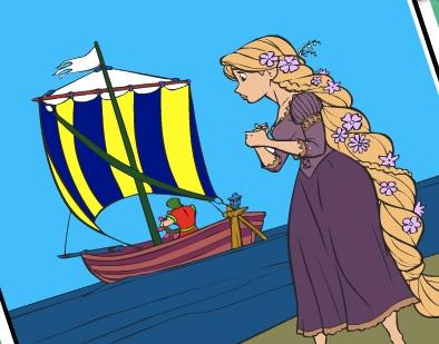 Printesa Rapunzel cu Barca