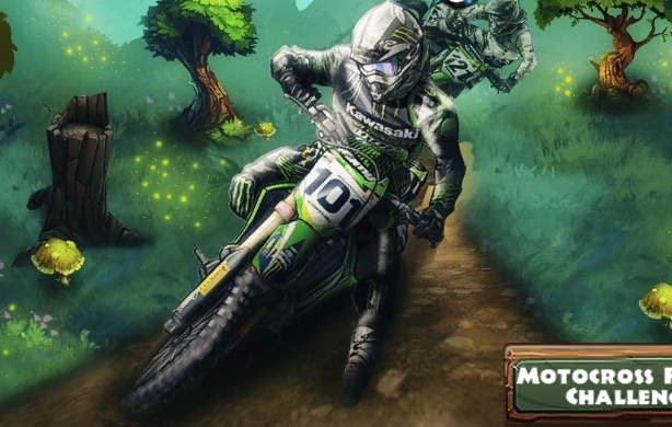 Provocare Motocross in Padure