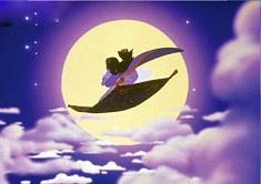 Puzzle cu Aladdin si Jasmine pe…