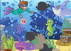 Puzzle cu Copii in Mare