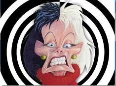 Puzzle cu Cruella de Vil Desenata