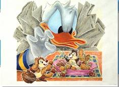 Puzzle cu Donald Furious pe Veverite