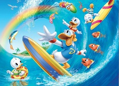 Puzzle cu Donald pe Val cu Ratustele