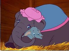 Puzzle cu Dumbo si Mamica