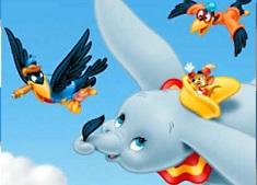 Puzzle cu Dumbo si Pasarile