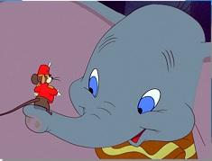 Puzzle cu Dumbo si Soricelul