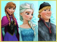 Puzzle cu Elsa si Anna si Kristoff
